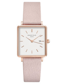 WHITE PINK ROSEGOLD WOMENS ACCESSORIES ROSEFIELD WATCHES - QWPR-Q11WHPKR