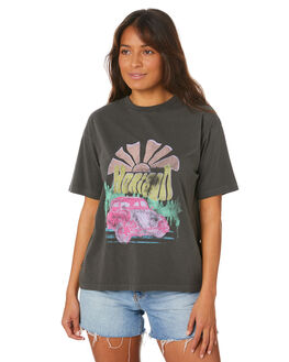 WASHED BLACK WOMENS CLOTHING ALL ABOUT EVE TEES - 6446246WBLK