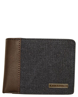 BLACK MENS ACCESSORIES RUSTY WALLETS - WAM0534BLK