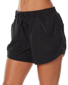 BLACK WOMENS CLOTHING RUSTY SHORTS - WKL0590BLK