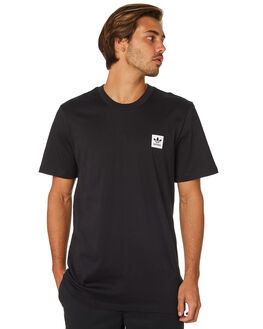 BLACK MENS CLOTHING ADIDAS TEES - DU8313BLK