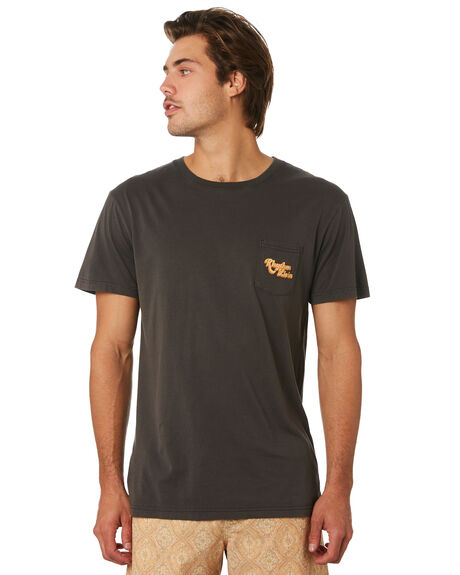 VINTAGE BLACK MENS CLOTHING RHYTHM TEES - JUL19M-PT03-BLK