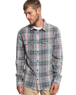 STONE WASH TANG MENS CLOTHING QUIKSILVER SHIRTS - EQYWT03785-BKJ1