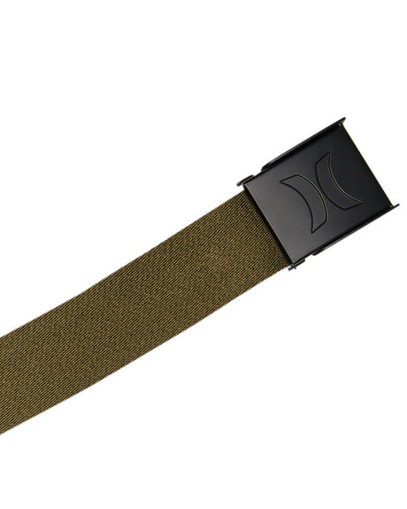 OLIVE CANVAS MENS ACCESSORIES HURLEY BELTS - HU0021395
