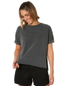 FADED BLACK WOMENS CLOTHING ALL ABOUT EVE TEES - 6446012FBLK