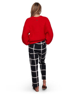 OFF BLACK WOMENS CLOTHING BILLABONG PANTS - BB-6507406-OFB