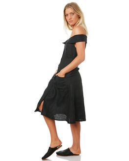 BLACK WOMENS CLOTHING LILYA DRESSES - LND08-PRSS18-BL