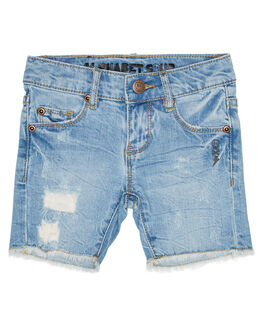 SWELL BLUE KIDS TODDLER BOYS ALPHABET SOUP SHORTS - AS-KWC7116SWBLU