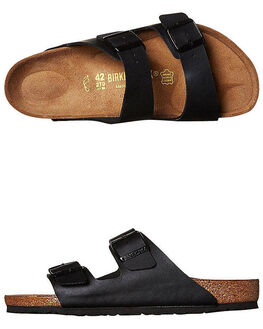 BLACK MENS FOOTWEAR BIRKENSTOCK SLIDES - 051791MBLK