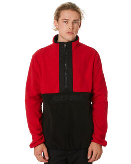 RED BLACK MENS CLOTHING SANTA CRUZ JUMPERS - SC-MFB9224RDBLK