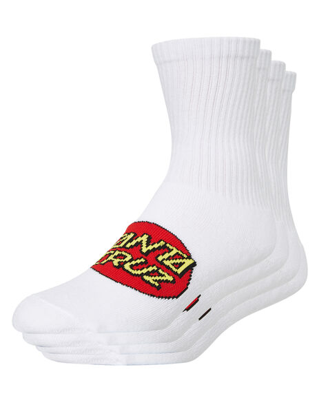 WHITE KIDS BOYS SANTA CRUZ SOCKS + UNDERWEAR - SC-YAA9176WHT