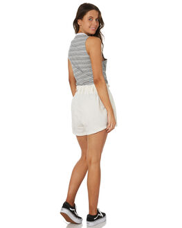 WHITE WOMENS CLOTHING AFENDS SHORTS - W183353WHT