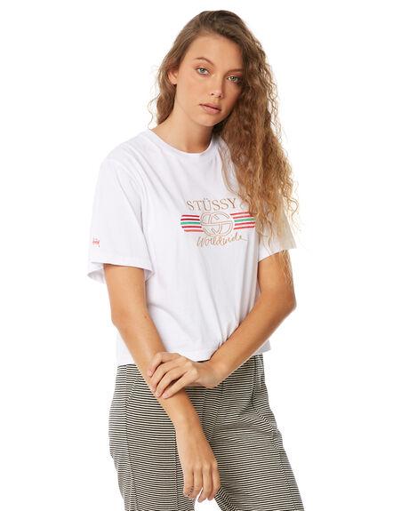 WHITE WOMENS CLOTHING STUSSY TEES - ST186006WHT