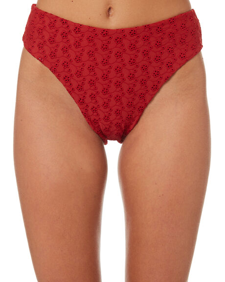 BLOOD RED WOMENS SWIMWEAR THRILLS BIKINI BOTTOMS - WTS8-818HRED