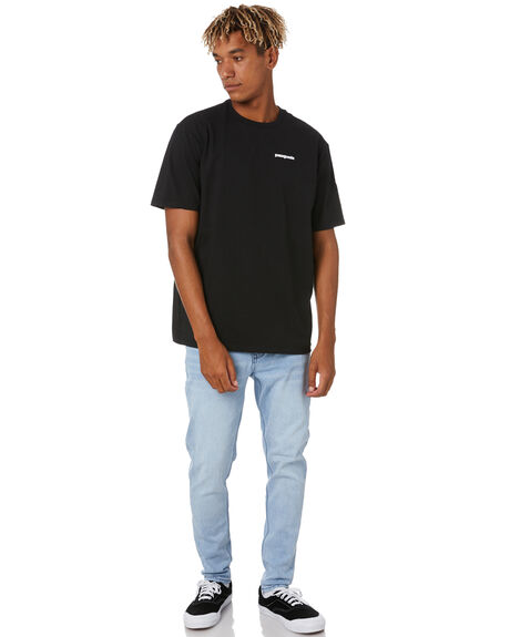 BLACK MENS CLOTHING PATAGONIA TEES - 38504BLK