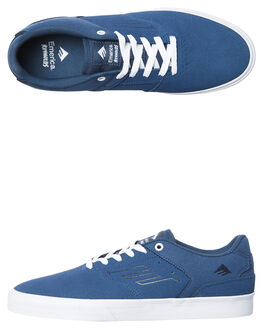 BLUE WHITE MENS FOOTWEAR EMERICA SKATE SHOES - 6102000096-444