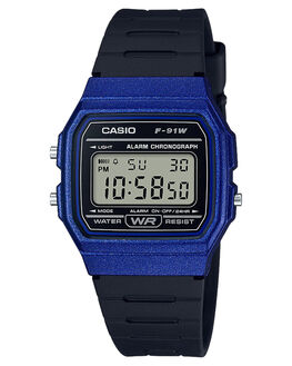 BLUE BLACK MENS ACCESSORIES CASIO WATCHES - F91WM-2ABBLK