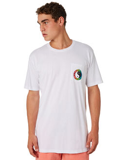 WHITE MENS CLOTHING TOWN AND COUNTRY TEES - TTE110WHT