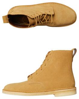 OCHRE MENS FOOTWEAR CLARKS ORIGINALS BOOTS - SS26128271OCHM