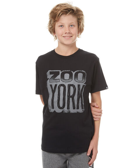 BLACK KIDS BOYS ZOO YORK TEES - ZY-YTC7132BLK