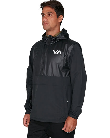 BLACK MENS CLOTHING RVCA JACKETS - RV-R307435-BLK