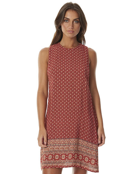 RUST PRINT WOMENS CLOTHING SWELL DRESSES - S8161454RST