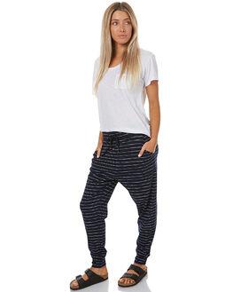 NAVY THIN STRIPE WOMENS CLOTHING SWELL PANTS - S8173191NTSTR