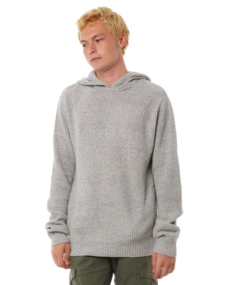 HEATHER GREY MENS CLOTHING BANKS KNITS + CARDIGANS - WKN0031HGR