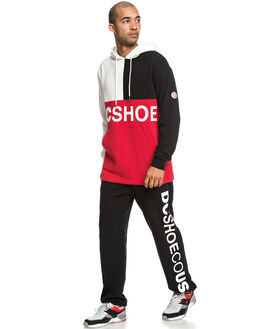 RACING RED MENS CLOTHING DC SHOES JUMPERS - EDYFT03423-RQR0