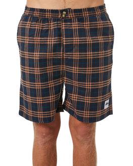 ORANGE NAVY MENS CLOTHING STUSSY SHORTS - ST095609ORNVY