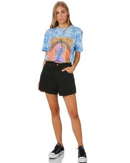 SLATE BLUE WOMENS CLOTHING WRANGLER TEES - W-951764-FG8BLU