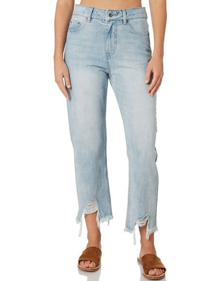 ICE BLUE WOMENS CLOTHING RIP CURL JEANS - GDECN13807