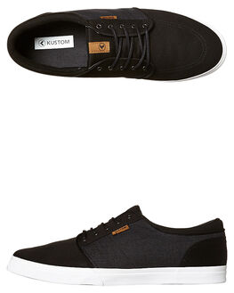 BLACK MICRO MENS FOOTWEAR KUSTOM SNEAKERS - 4937100CBLKM