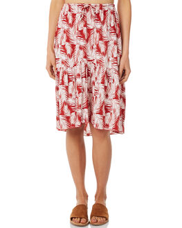 CANYON RED PALM WOMENS CLOTHING RUE STIIC SKIRTS - SA18-8-RP-PCAN