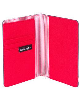 NAVY RED MENS ACCESSORIES HERSCHEL SUPPLY CO WALLETS - 10373-00018-OSNVRD