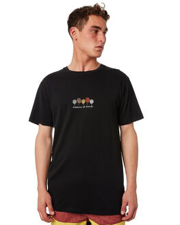 BLACK MENS CLOTHING THE CRITICAL SLIDE SOCIETY TEES - TE1899BLK