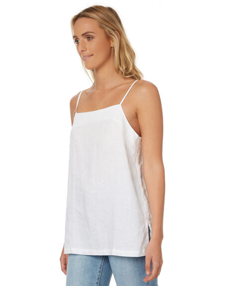 WHITE WOMENS CLOTHING ASSEMBLY SINGLETS - AW-S17121WHT