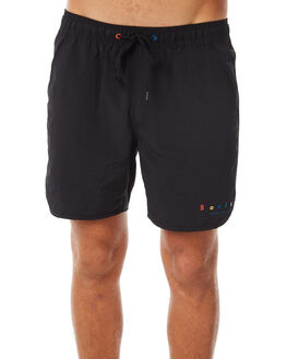 DIRTY BLACK MENS CLOTHING BANKS SHORTS - BS0149DBL