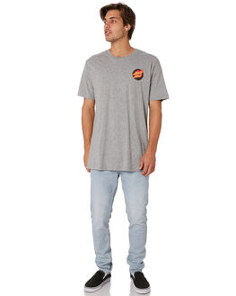 GREY HEATHER MENS CLOTHING SANTA CRUZ TEES - SC-MTA9149GRYHT
