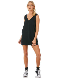 BLACK WOMENS CLOTHING RVCA DRESSES - R281751BLK