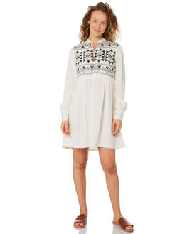 WHITE BLACK WOMENS CLOTHING SAINT HELENA DRESSES - SHS192129BWHTBL