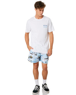 WHITE MENS CLOTHING RIP CURL TEES - CTEQB21000