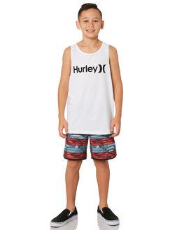 AURORA GREEN KIDS BOYS HURLEY BOARDSHORTS - AQ8000-323