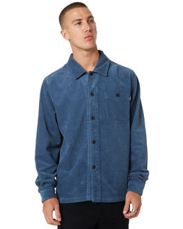 BLUE MENS CLOTHING STUSSY SHIRTS - ST095401BLU