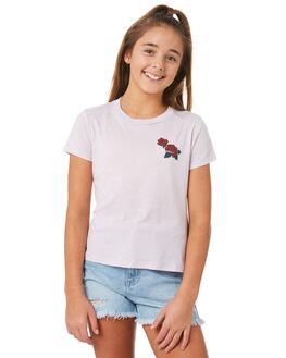 LIGHT PURPLE KIDS GIRLS VOLCOM TEES - B35318Y0LPU