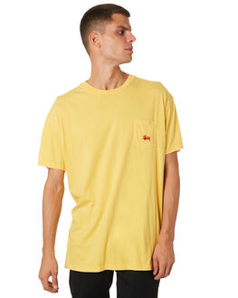 VINTAGE YELLOW MENS CLOTHING STUSSY TEES - ST082001VNYEL