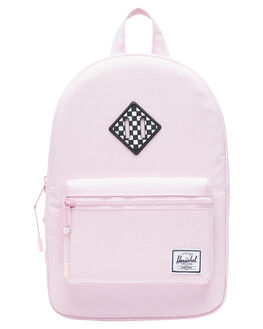 PINK CROSSHATCH KIDS GIRLS HERSCHEL SUPPLY CO BAGS + BACKPACKS - 10313-02565-OSPKCRS