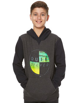 DARK GREY HEATHER KIDS BOYS QUIKSILVER JUMPERS - EQBFT03357KTFH