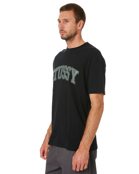 BLACK MENS CLOTHING STUSSY TEES - ST016115BLACK