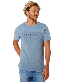 MID BLUE MENS CLOTHING RIP CURL TEES - CTESI28962
